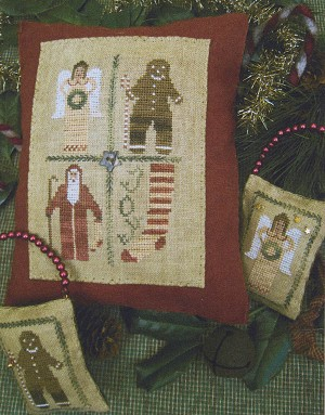 Four Square Christmas - (Cross Stitch)