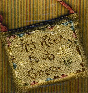 It's Keen to go Green - (Cross Stitch)