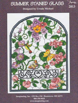 Summer Stained Glass - (Cross Stitch)