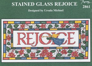 Stained Glass Rejoice - (Cross Stitch)