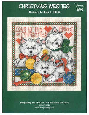 Christmas Westies - (Cross Stitch)