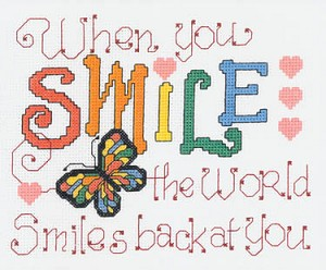 Smile At the World - (Cross Stitch)
