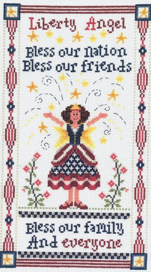 Liberty Angel - (Cross Stitch)