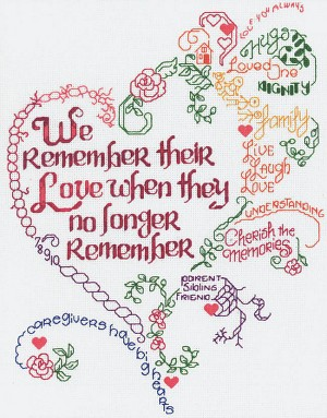 Let's Remember  -  Alzheimer's - (Cross Stitch)