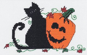 Pumpkin Pals - (Cross Stitch)