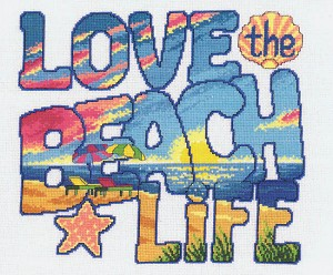 Love the Beach Life - (Cross Stitch)