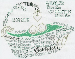 Let's Love Twins - (Cross Stitch)