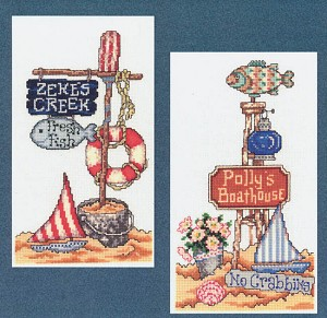Beach Signs II - (Cross Stitch)