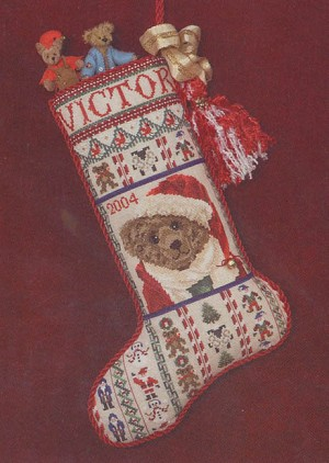 Victor's Stocking - (Cross Stitch)