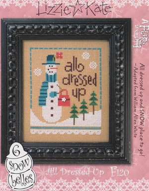 6 Snow Belles All Dressed Up Flip-It - (Cross Stitch)