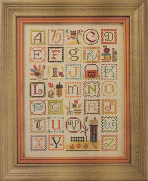 Autumn Alphabet - (Cross Stitch)