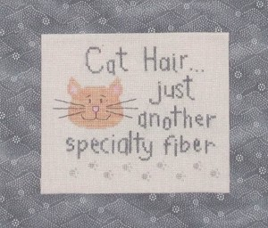 Cat Hair - (Cross Stitch)