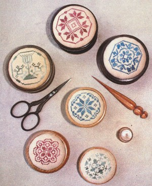 Quaker Pin Cushions - (Cross Stitch)