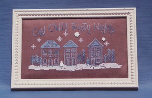 Cold Chilly Frosty Nights - (Cross Stitch)