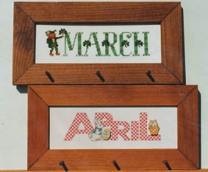March and April - (Cross Stitch)