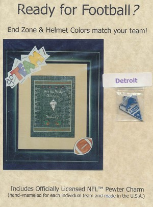 Ready For Football? Detroit Lions - (Cross Stitch)