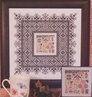 Black Lace Sampler - (Cross Stitch)