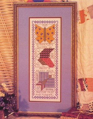 Butterflies Flutter By - (Cross Stitch)