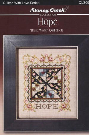 Brave World Quilt Block - HOPE - (Cross Stitch)