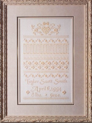 Roosevelt Birth Sampler - (Cross Stitch)