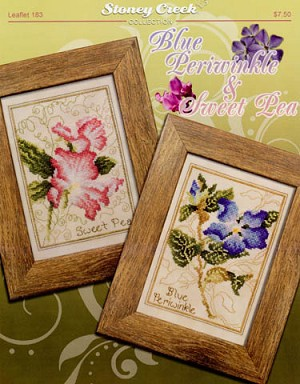 Blue Periwinkle & Sweet Pea - (Cross Stitch)