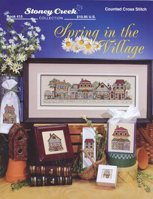 Spring in the Village - (Cross Stitch)