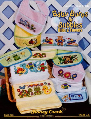 Baby Burps & Bubbles Bibs & Towels - (Cross Stitch)