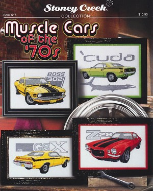 Muscle Cars of the '70s - (Cross Stitch)