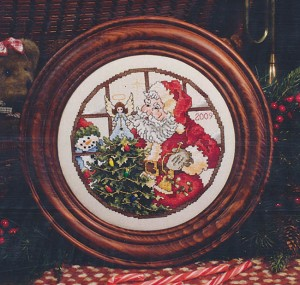 Santa Plate 2009 - (Cross Stitch)