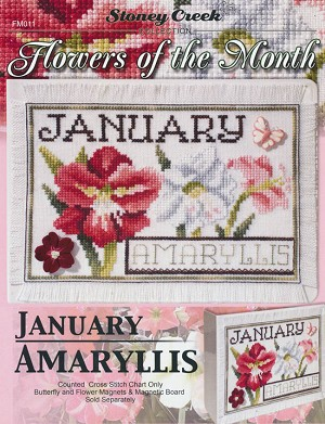 Flowers of the Month January Amaryllis - (Cross Stitch)