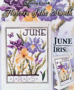 Flowers of the Month - June Iris - (Cross Stitch)