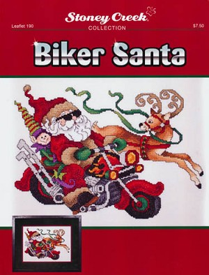 Biker Santa - (Cross Stitch)
