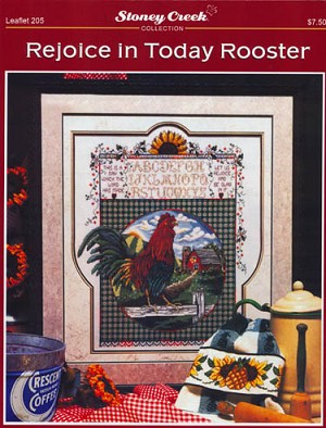 Rejoice in Today Rooster - (Cross Stitch)
