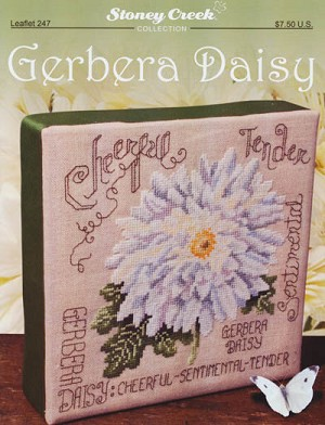 Gerbera Daisy - (Cross Stitch)