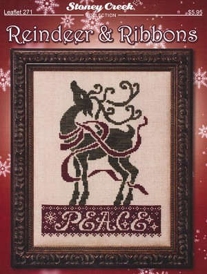 Reindeer & Ribbons - (Cross Stitch)