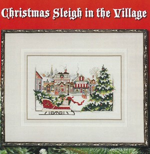 Christmas Sleigh in the Village - (Cross Stitch)