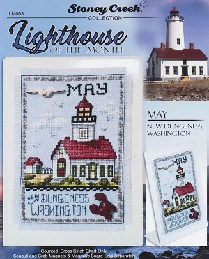 Lighthouse of the Month May New Dungeness WA - (Cross Stitch)