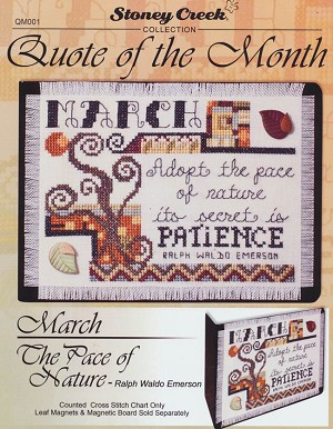 Quote of the Month - March Pace of Nature - (Cross Stitch)