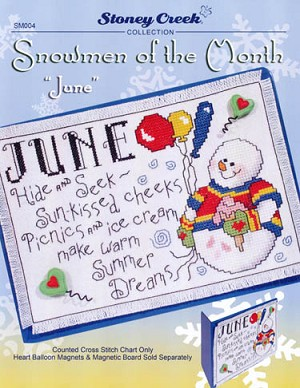 Snowmen of the Month - June - (Cross Stitch)