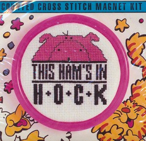 Hams In Hock - (Cross Stitch)