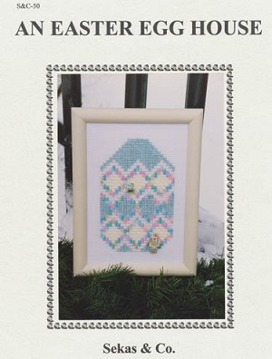 An Easter Egg House - (Cross Stitch)