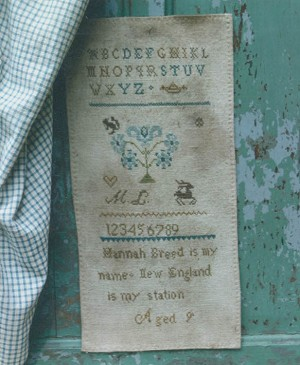Hannah Breed's Hanging Sampler - (Cross Stitch)