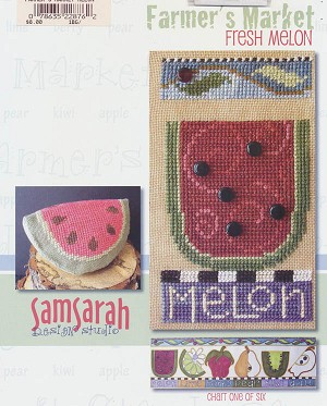 Fresh Melon - (Cross Stitch)