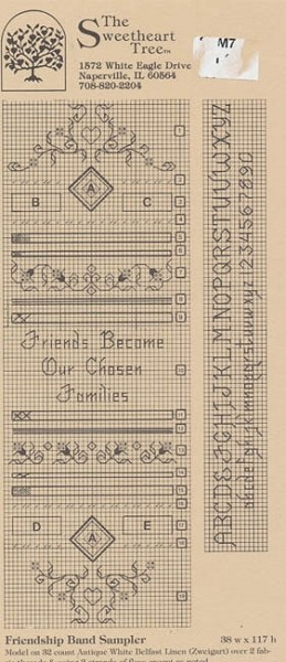 Friendship Band Sampler - (Cross Stitch)