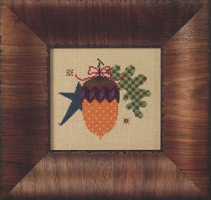 Star Acorn - (Cross Stitch)