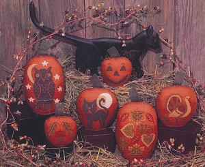 Pumpkins - (Cross Stitch)