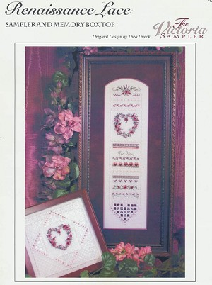 Renaissance Lace Sampler & Memory Box Top - (Cross Stitch)