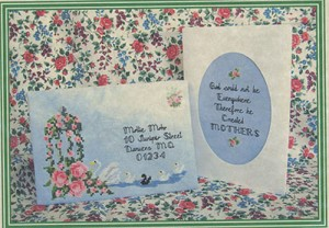 Dear Mother Mail Art - (Cross Stitch)