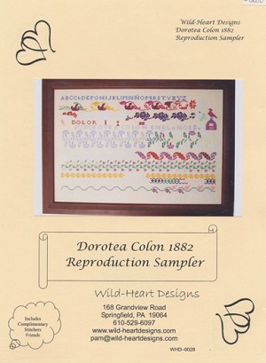 Dorotea Colon 1882 Reproduction Sampler - (Cross Stitch)