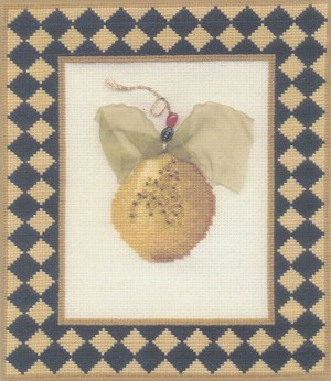 The Well Dressed Pear Topaz - (Cross Stitch)